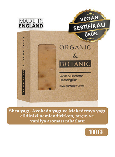 Organic ORGANIC BOTANIC SABUN VANILYA TARÇIN100gr Renksiz